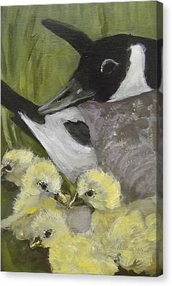 Mother Goose Canvas Print by Edith Hunsberger