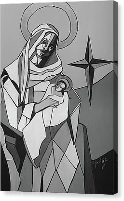 Mother Mary And Son Jesus Canvas Print by Mary DuCharme