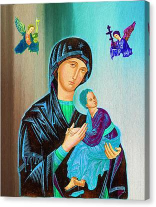 Mother Mary Canvas Print by Ericamaxine Price