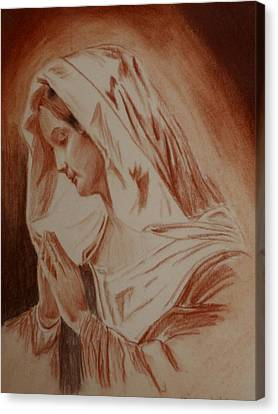 Mother Mary Canvas Print by Mike Hinojosa
