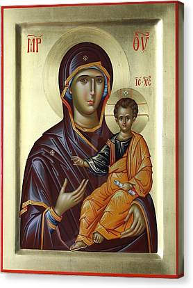 Mother Of God Hodighitria Canvas Print by Daniel Neculae