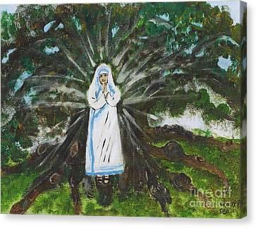 Mother Teresa In Acadiana Canvas Print by Seaux-N-Seau Soileau