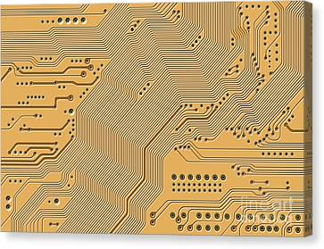 Motherboard - Printed Circuit Canvas Print by Michal Boubin
