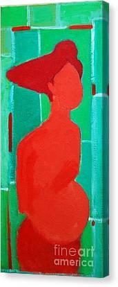 Motherhood Canvas Print by Ana Maria Edulescu