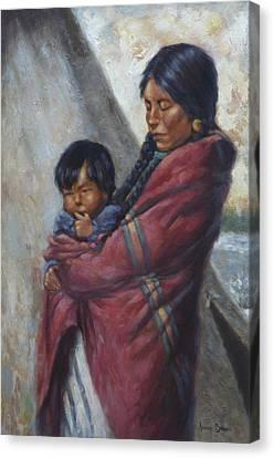 Motherhood Canvas Print by Harvie Brown