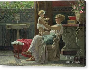 Mother's Darling  Canvas Print by Zocchi Guglielmo