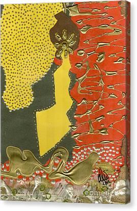 Mother's Earring Canvas Print by Angela L Walker