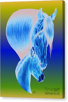 Mother's Love Canvas Print by Sheryl Unwin
