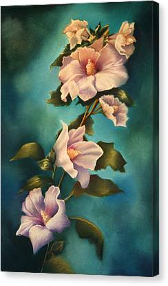 Mothers Rose Of Sharon Canvas Print by Marti Bailey