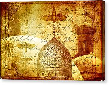 Moths And Mosques Canvas Print by Tammy Wetzel