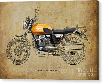 Moto Guzzi V7 Scrambler 2012 Canvas Print by Pablo Franchi