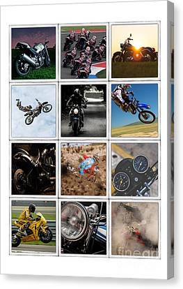 Motorcycle Poster Canvas Print by Edward Fielding