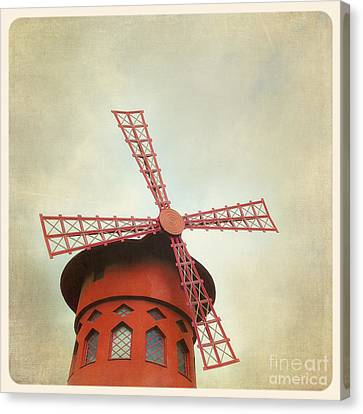 Moulin Rouge Instagram Style Canvas Print by Jane Rix