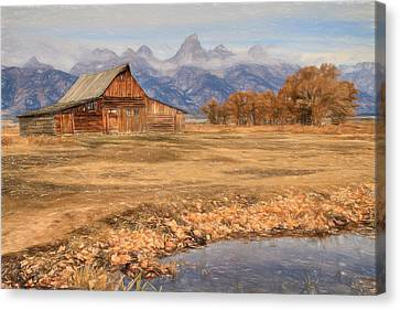 Moulton Barn 2- Grand Tetons Canvas Print by Donna Kennedy