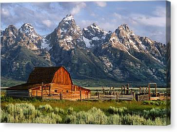 Moulton Barn Canvas Print by Randall Roberts
