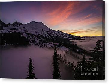 Mount Baker Sunrise Peaceful Morning Canvas Print by Mike Reid