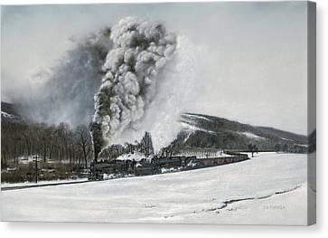 Mount Carmel Eruption Canvas Print by David Mittner