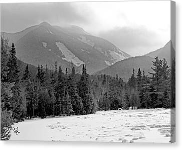 Mount Colden During Winter From Marcy Dam In The Adirondack Mountains Canvas Print by Brendan Reals