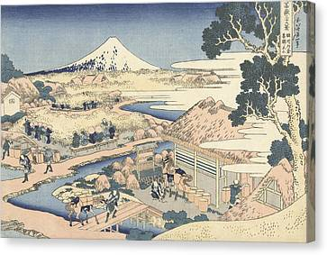Mount Fuji From Katakura Tea Garden Canvas Print by Hokusai