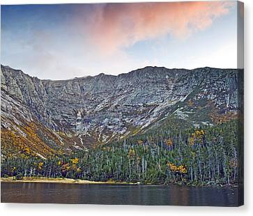Mount Katahdin From Chimney Pond In Baxter State Park Maine Canvas Print by Brendan Reals