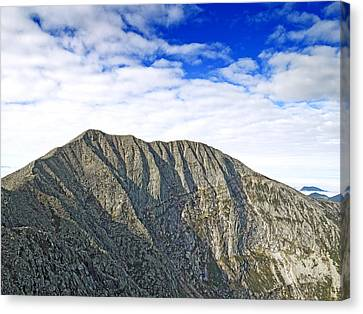 Mount Katahdin In Baxter State Park Maine Canvas Print by Brendan Reals