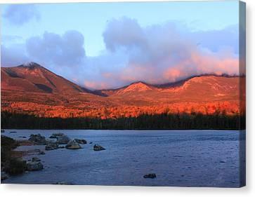 Mount Katahdin Sunrise Canvas Print by John Burk