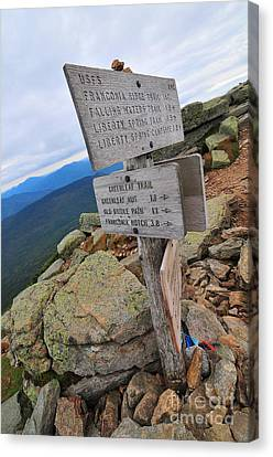Mount Lafayette Summit Canvas Print by Catherine Reusch  Daley