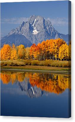 Mount Moran Reflections Canvas Print by Eric Foltz