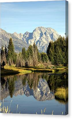 Mount Moran Reflections Canvas Print by Marty Koch