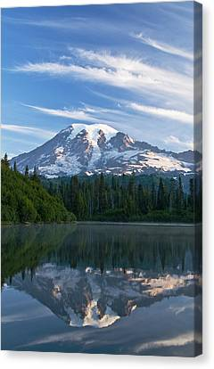 Mount Rainier Reflections Canvas Print by Greg Vaughn - Printscapes