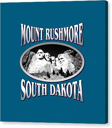 Mount Rushmore South Dakota - Tshirt Design Canvas Print by Art America Online Gallery