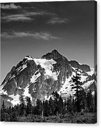 Mount Shuksan Black And White Cascade Mountains Washington Canvas Print by Brendan Reals