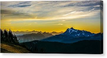 Mount Shuksan Sunrise 2 Canvas Print by Pelo Blanco Photo