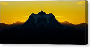 Mount Shuksan Sunrise Reflection Canvas Print by Pelo Blanco Photo