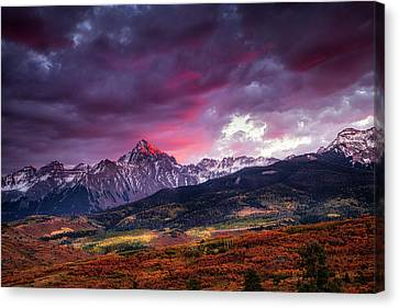 Mount Sneffels At Sunset Canvas Print by Andrew Soundarajan