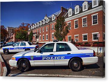 Mount Vernon Police Department Canvas Print by June Marie Sobrito
