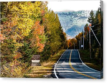 Mount Washington In Autumn Canvas Print by Jeff Folger