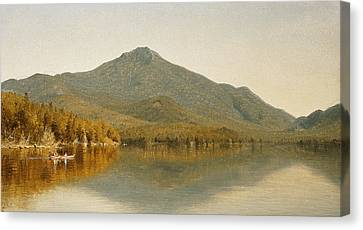 Mount Whiteface From Lake Placid Canvas Print by Albert Bierstadt