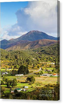 Mount Zeehan Valley Town. West Tasmania Australia Canvas Print by Jorgo Photography - Wall Art Gallery