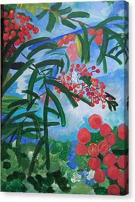 Mountain Ash Canvas Print by Krista Ouellette