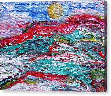 Mountain Colors Canvas Print by Amy Drago