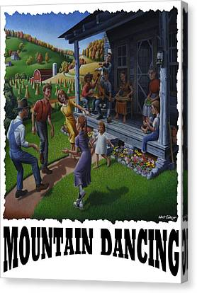 Mountain Dancing - Flatfoot Dancing Canvas Print by Walt Curlee