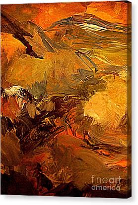 Mountain Glow Canvas Print by Nancy Kane Chapman