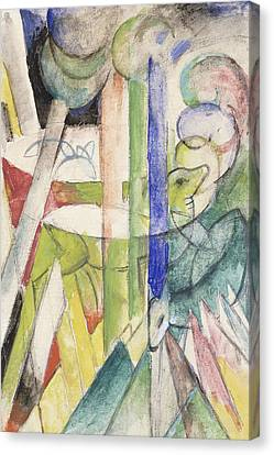 Mountain Goat Canvas Print by Franz Marc
