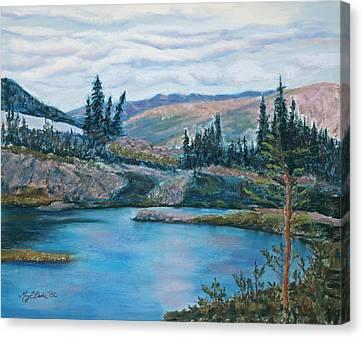 Mountain Lake Canvas Print by Mary Benke