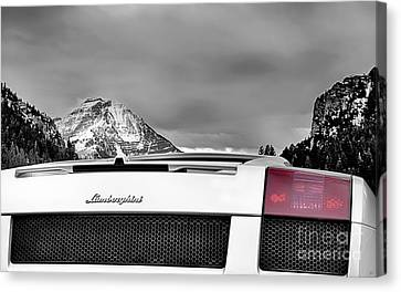 Mountain Lamborghini Canvas Print by David Millenheft