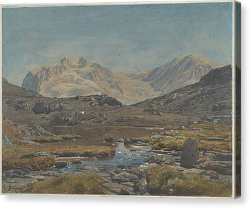 Mountain Landscape Canvas Print by Francois-louis Francais