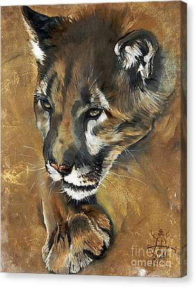 Mountain Lion - Guardian Of The North Canvas Print by J W Baker