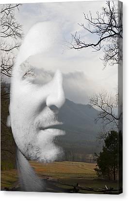 Mountain Man Canvas Print by Christopher Gaston