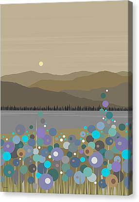 Mountain Meadow Morning Canvas Print by Val Arie